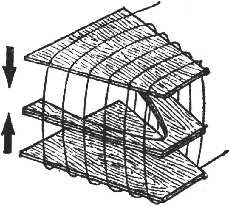 Сборка коробки под язык крепления крыла.