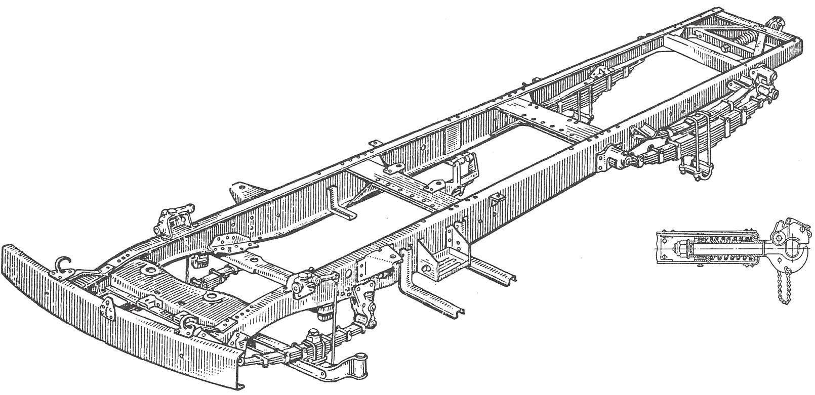 The frame of the car ZIL-164