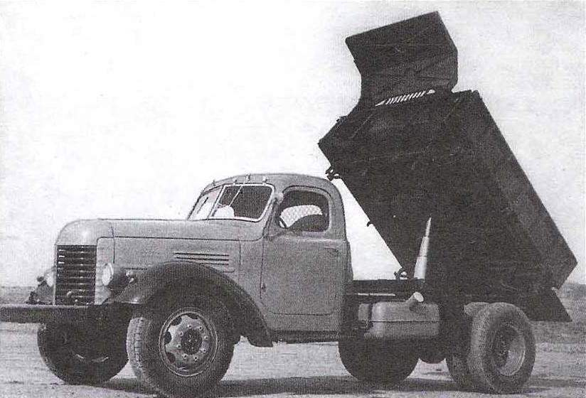 Dump truck based on ZIL-164
