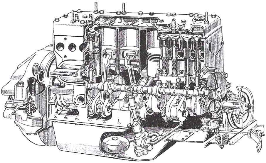 The engine of car ZIL-164