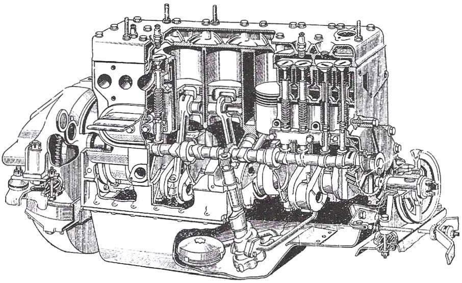 Двигатель автомобиля ЗиЛ-164
