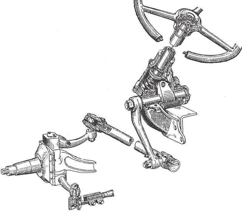 Рулевое управление автомобиля ЗиЛ-164А