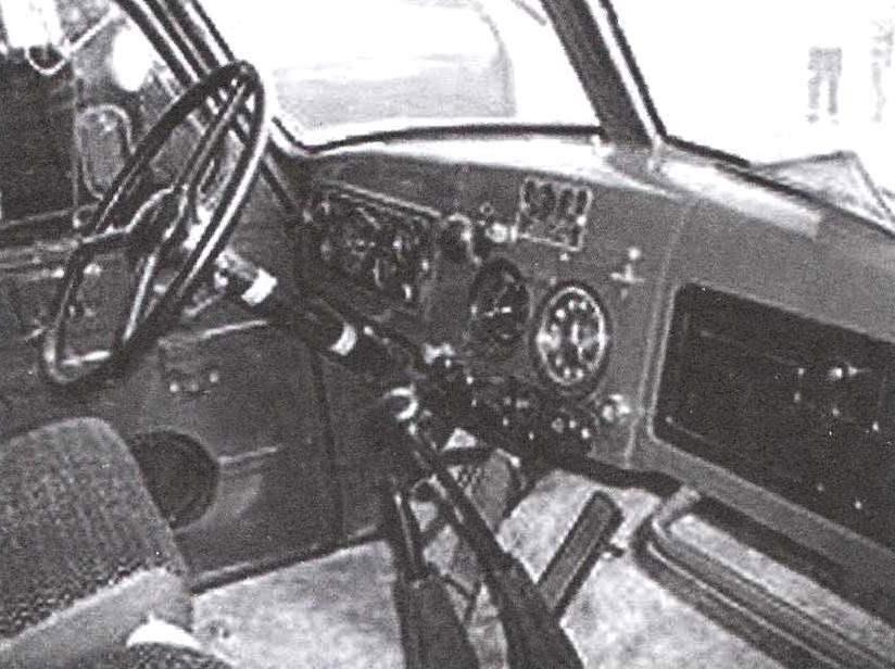 Рабочее место водителя автомобиля ЗиЛ-164