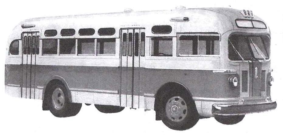 Автобус ЗиС-155 выпуска 1949 года на базе грузового автомобиля ЗиС-150