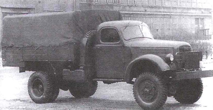 Experimental four-wheel drive truck ZIS-150P
