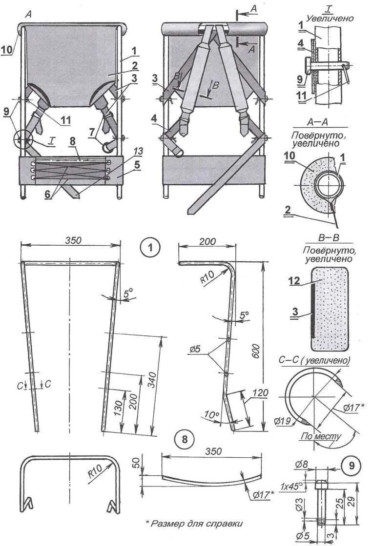 Рис. 1. Рюкзак-сиденье для ребёнка