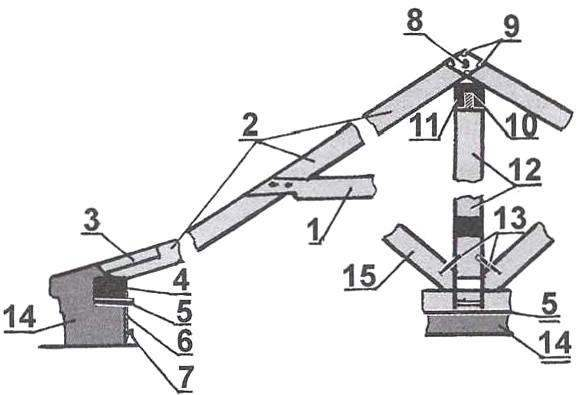 Рис. 3. Схема стропильной фермы