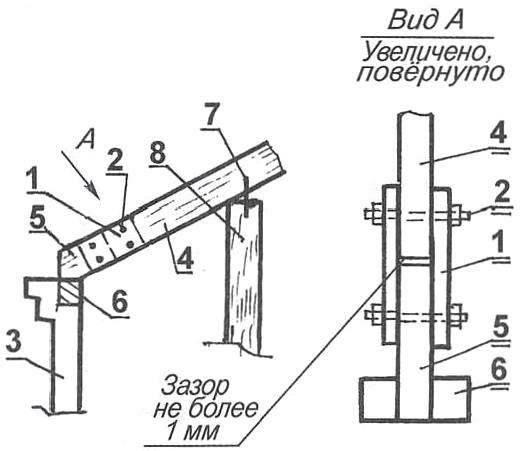Рис. 6. Замена подгнившего основания стропильной ноги