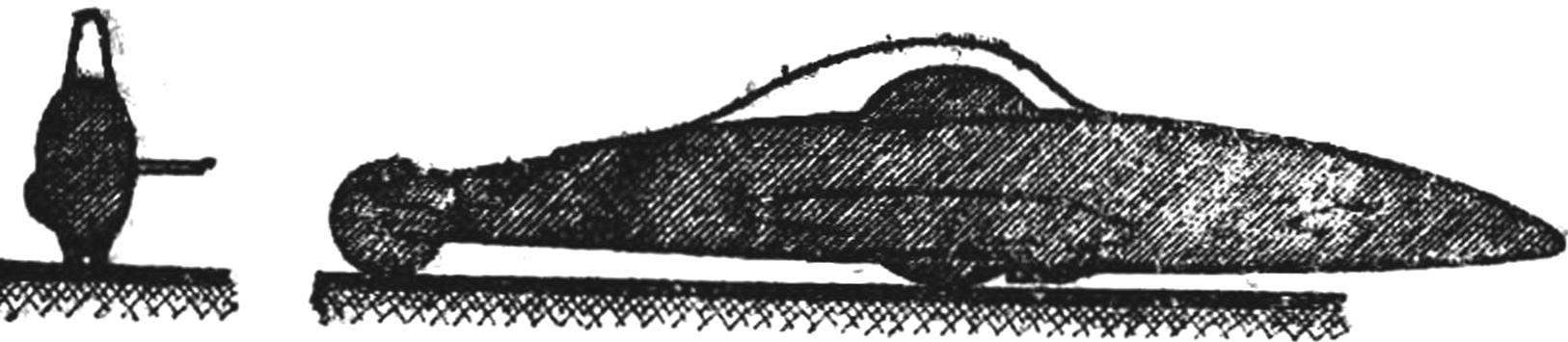 Fig. 2. Racing model with front-wheel drive and horizontally placed engine with minimal aerodynamic drag.