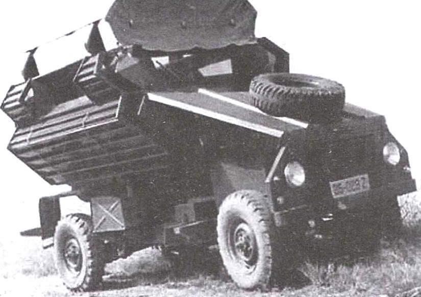 Патрульный автомобиль «Антилопа» с V-образным днищем и внешней противопульной облицовкой
