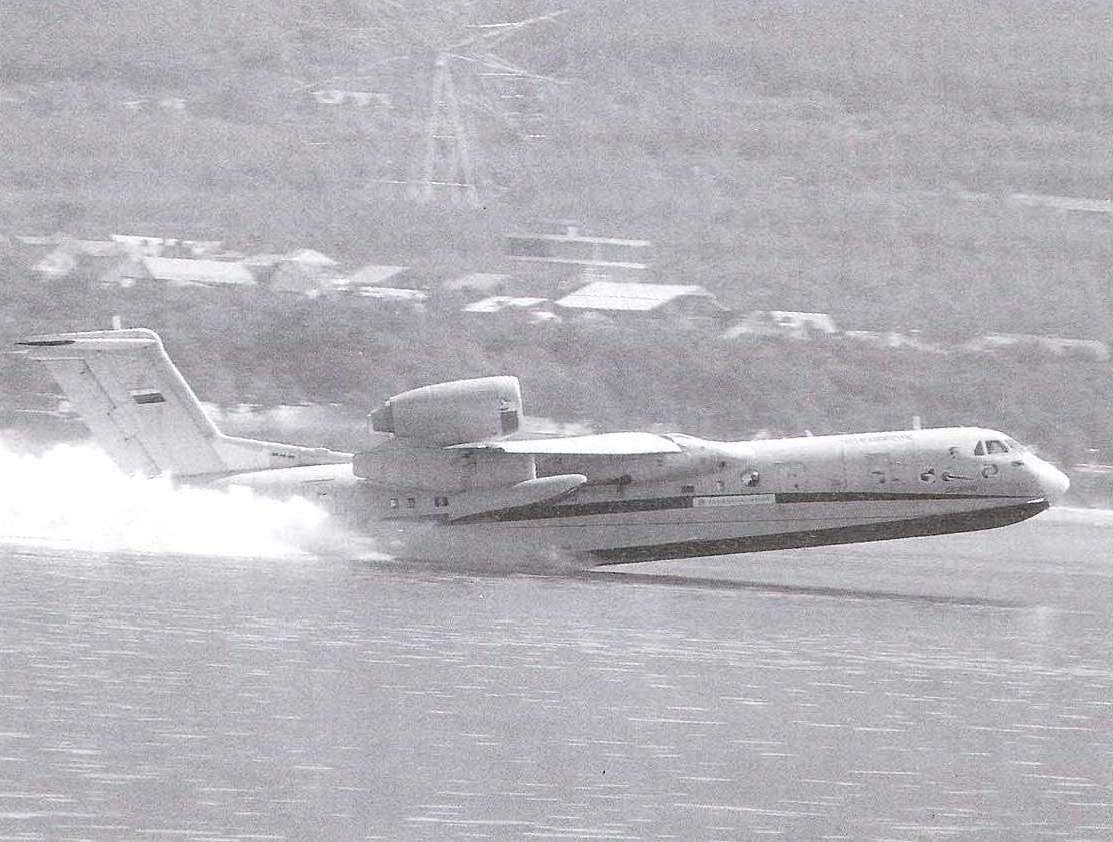 Взлёт опытного экземпляра амфибии Бе-200