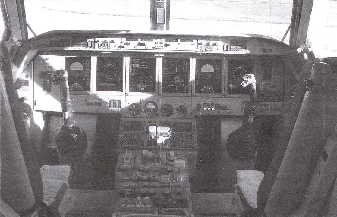 Кабина пилотов самолёта Бе-200ЧС