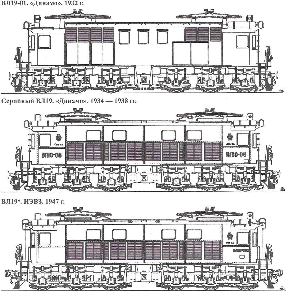 Electric locomotives ВЛ19