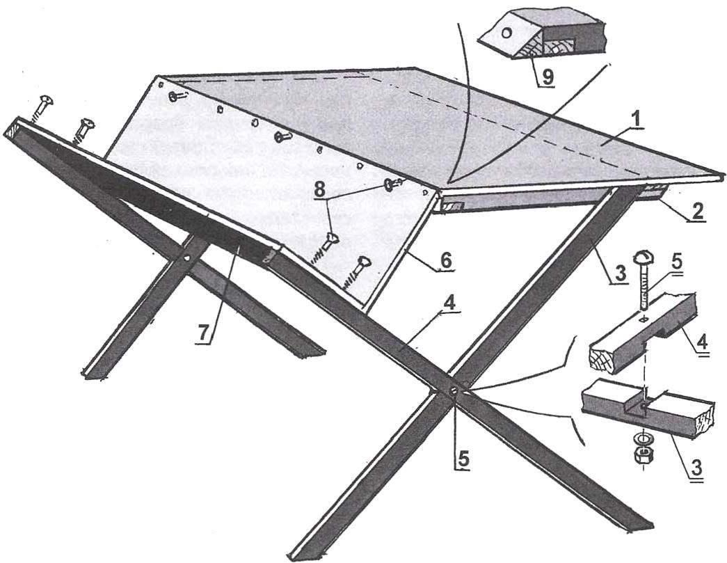 Desk with corner shelf