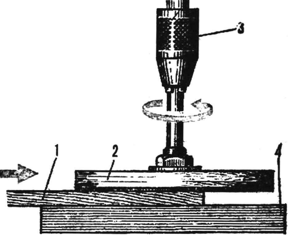 Рис. 2. Схема получения шпона
