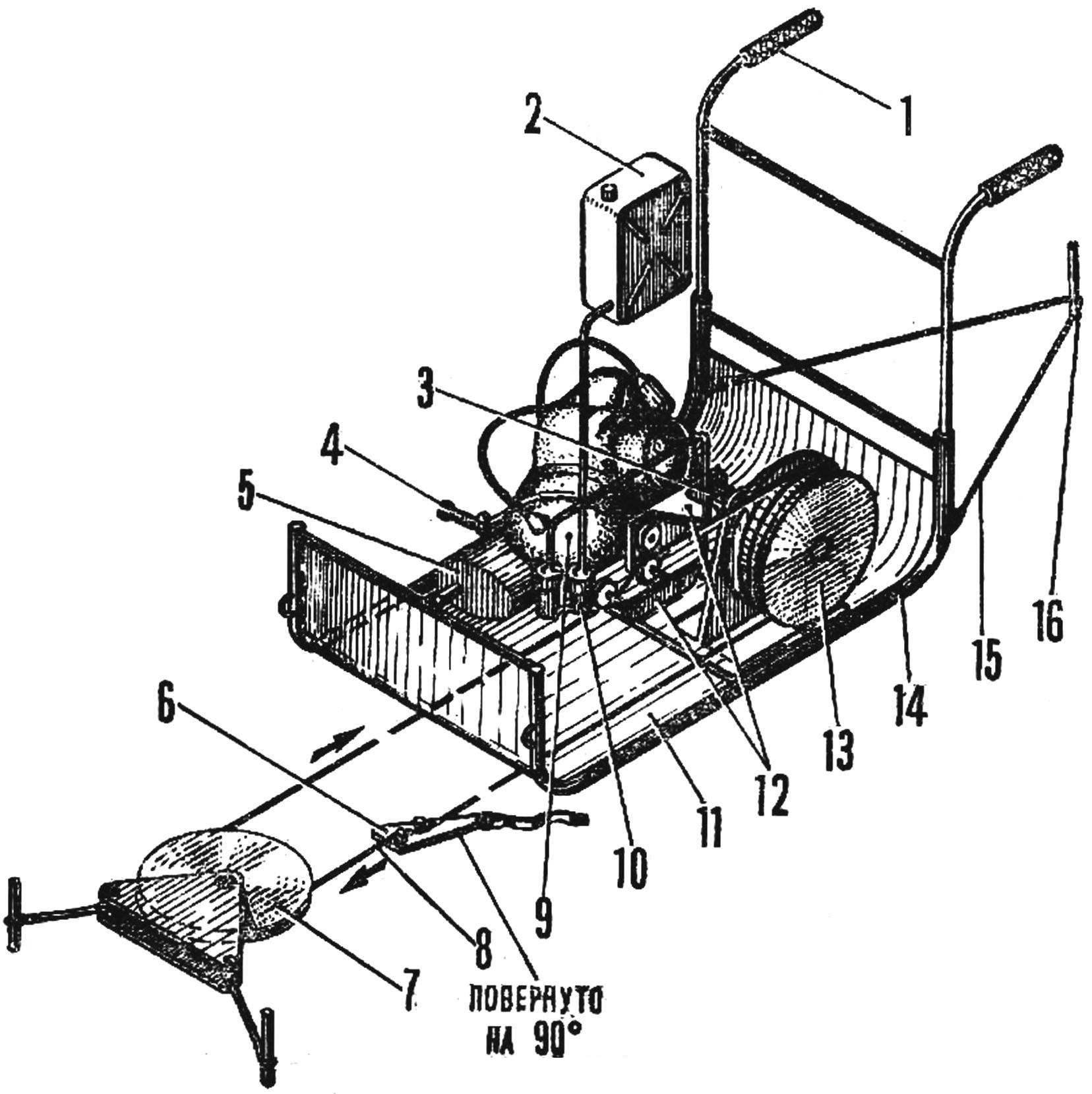 Рис. 1. Передвижной бугельный подъемник для лыжника