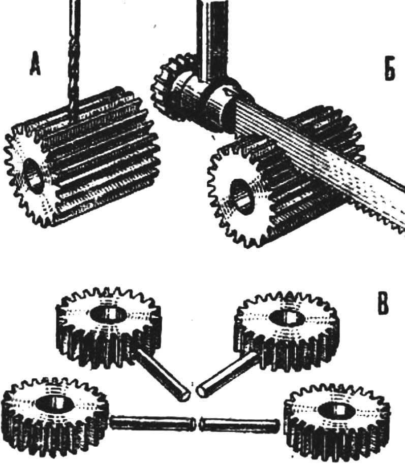 Рис. 2. Последовательность изготовления шестерен синхронизирующего механизма