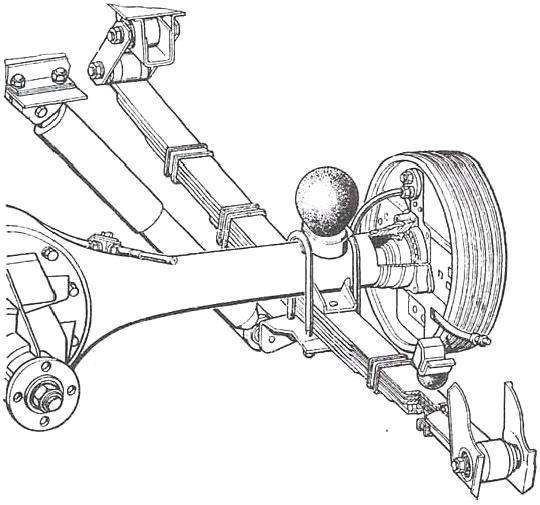 Rear axle and suspension of the car