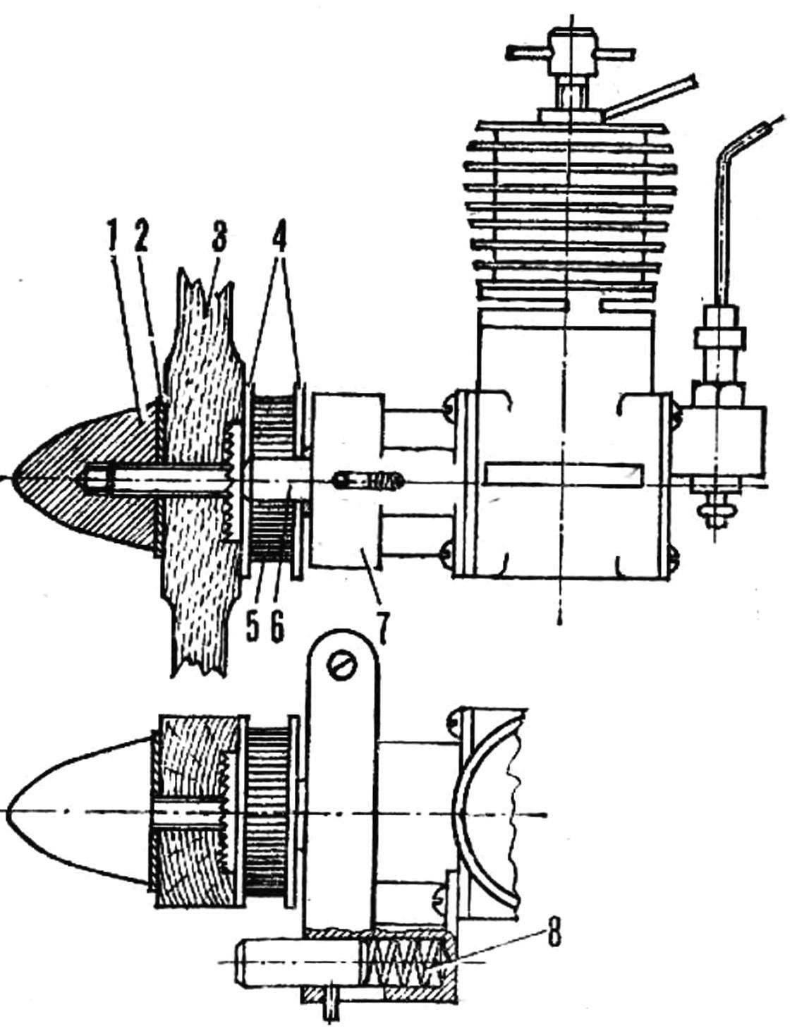 Рис. 1. Стартер для микродвигатели и его детали