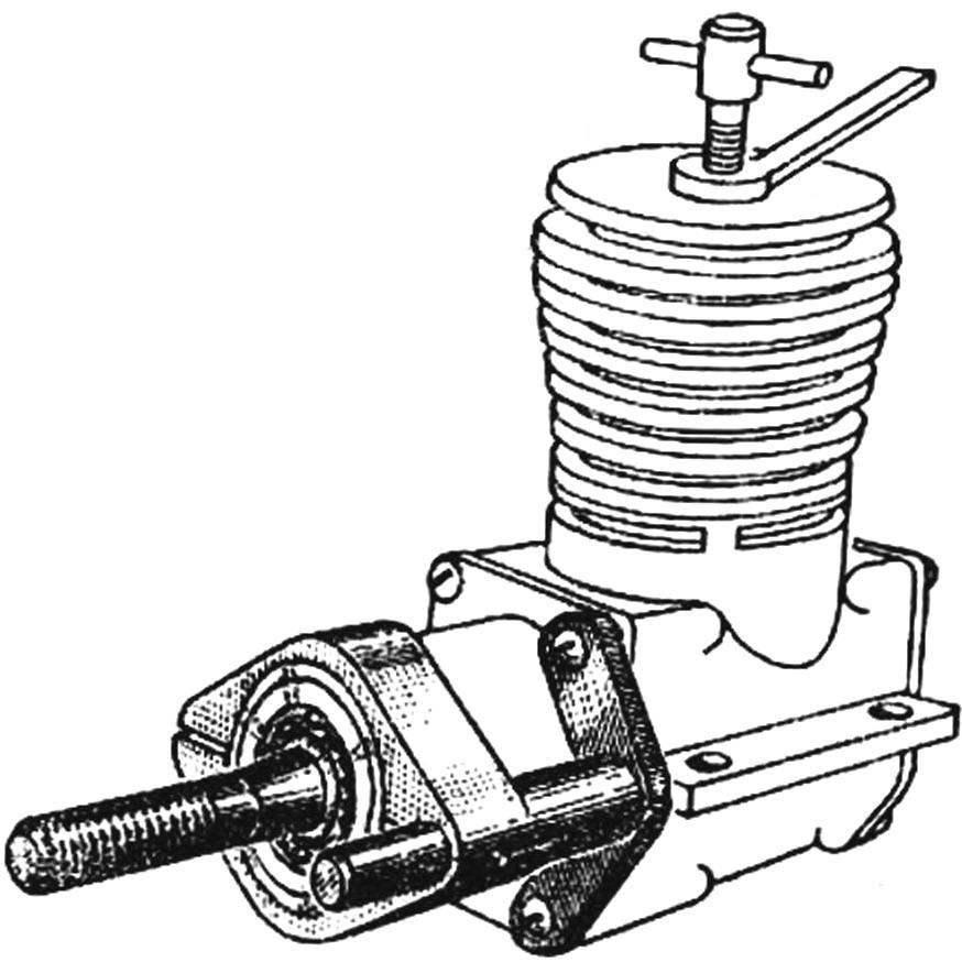 Рис. 2. Установка защелки на двигатель.