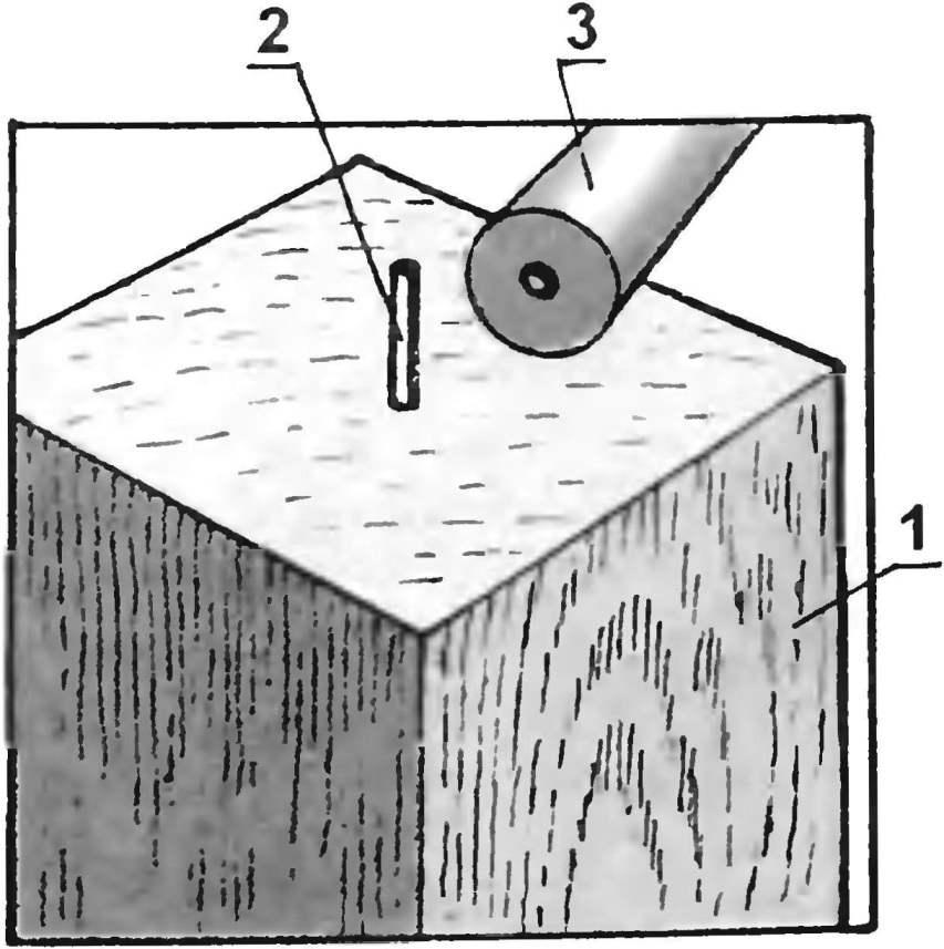 Рис. 4. Стык мачты с основанием