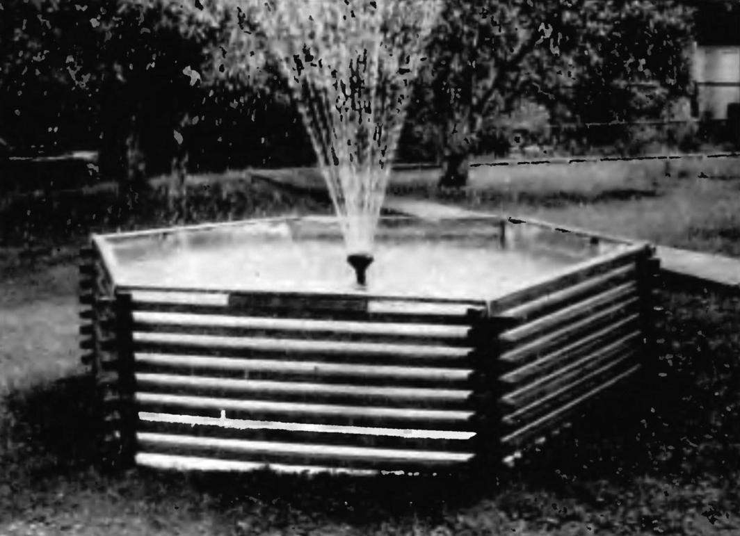 Makeshift fountain on the basis of the arena