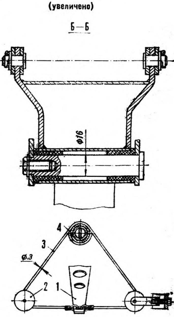 Рис. 5. Схема тросовой проводки рулевого управления