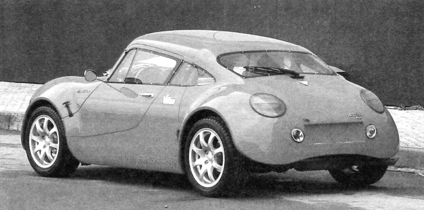 Автомобиль «Пегас» (вид сзади - сигнальные фонари от «Фольксваген-Жук»)