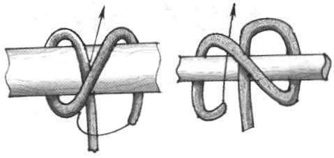 Одинарный морской узел