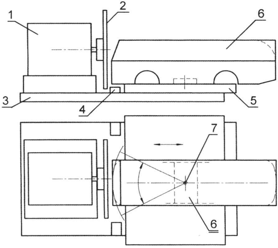 Diagram of grinding device