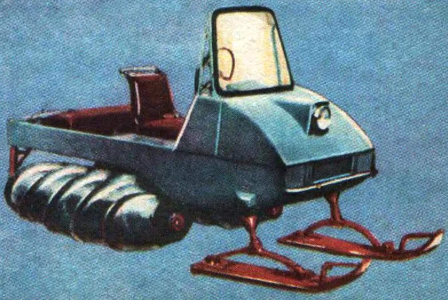 Лыжно-винтовой снегоход ГПИ-05