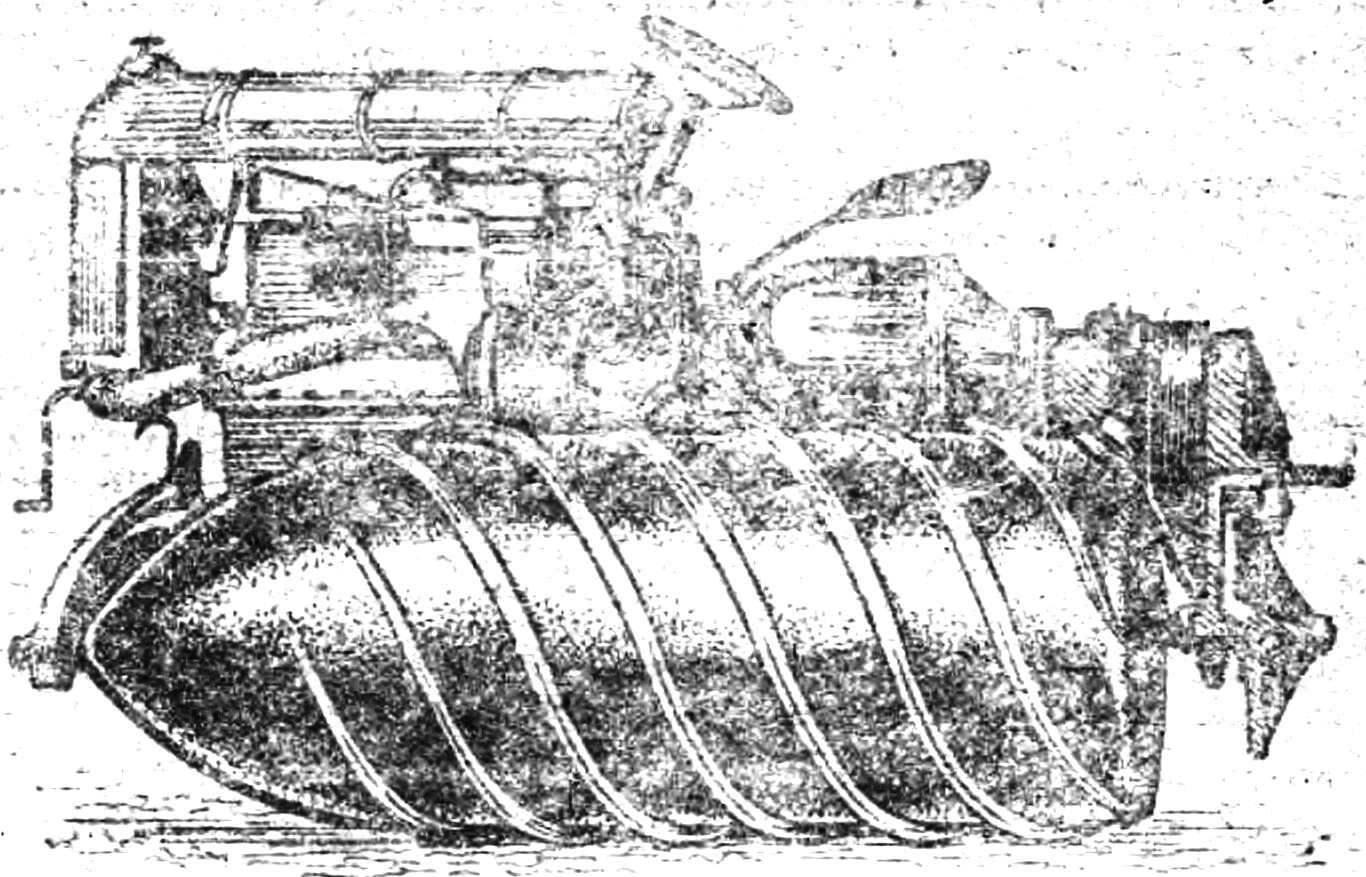Трактор «фордзон» на червячных барабанах.