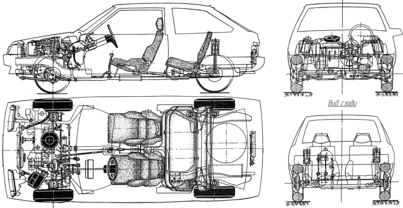 Конструкция автомобиля ВАЗ-2108 «Спутник»