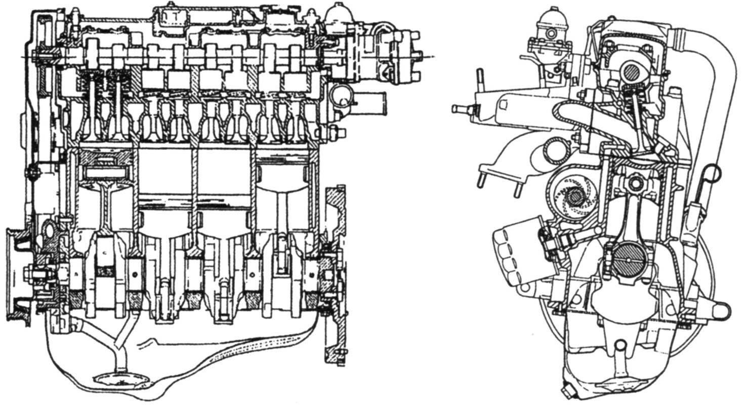 Двигатель автомобиля ВАЗ-2108 «Спутник»