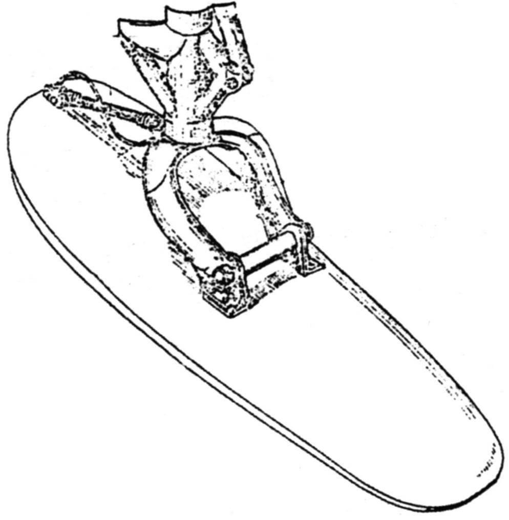 Хвостовая лыжа зимнего шасси