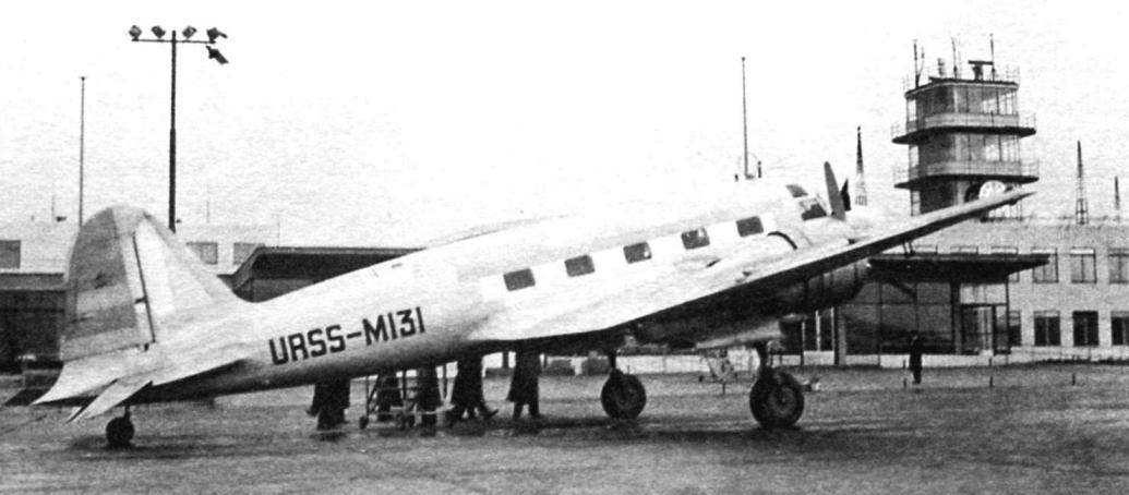 The second prototype, the ANT-35бис, at the airport