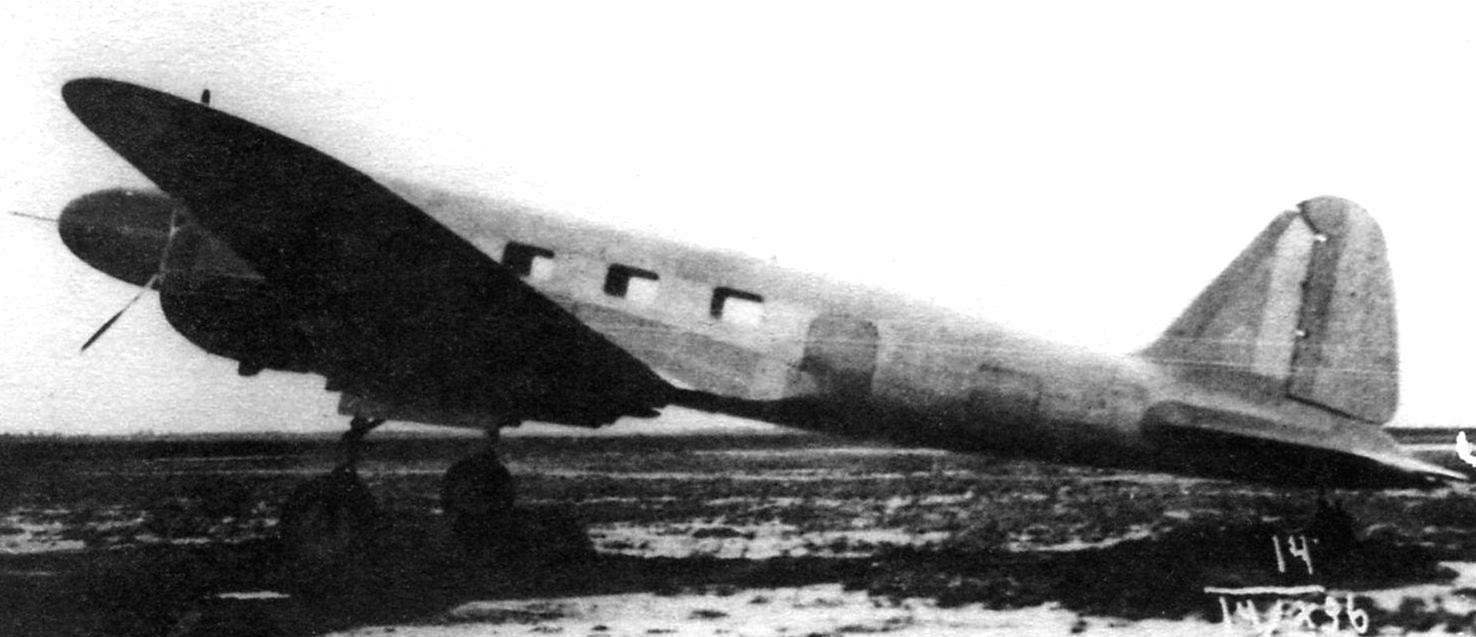 The first prototype ANT-35 during joint testing, Moscow, October 1936