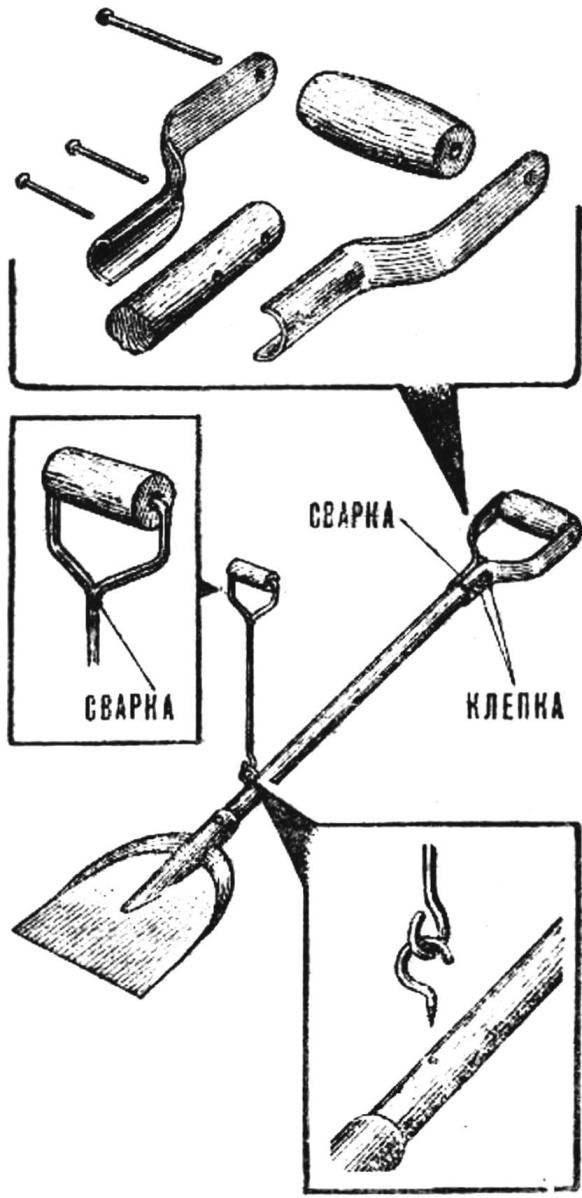 Модернизированная совковая лопата.