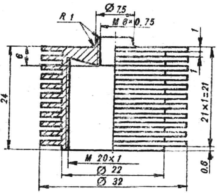 Рис. 2. Рубашка цилиндра двигателя.