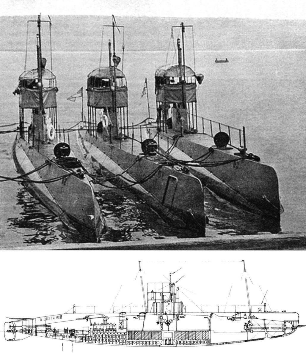 Подводные лодки типа «D», США, 1909 г.
