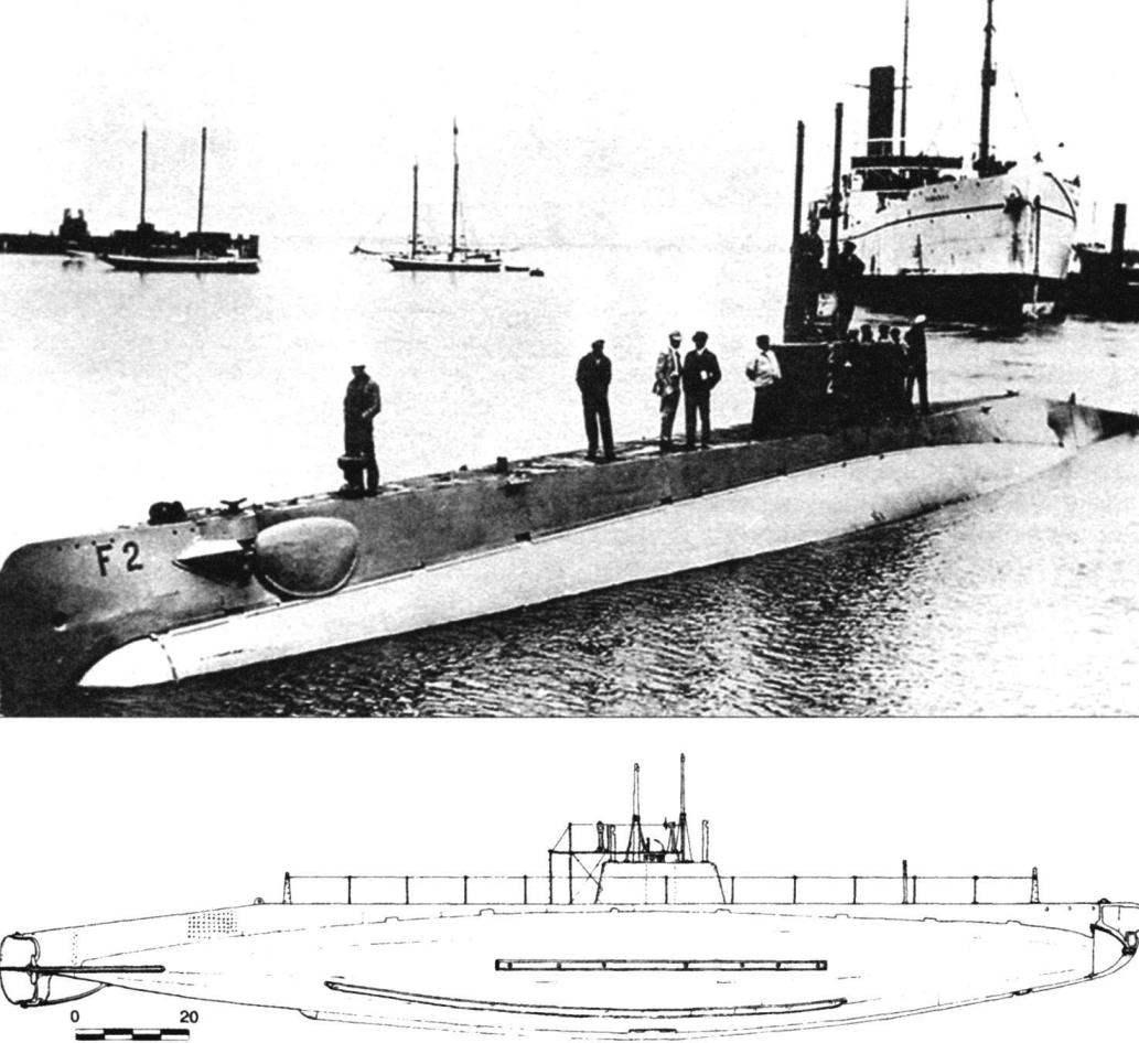 Подводная лодка типа «F» «Барракуда» (SS-21), США, 1912 г.