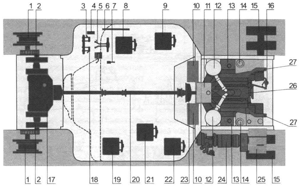 Layout of the tank A39
