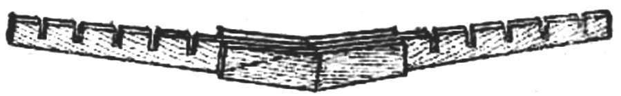 Рис. 2. Стыковка половин лонжерона крыла с помощью фанерных накладок