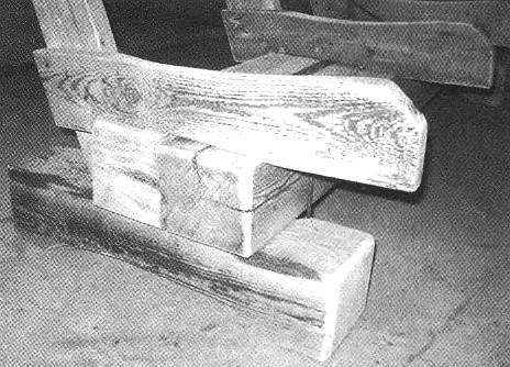 The skeleton of the sofa