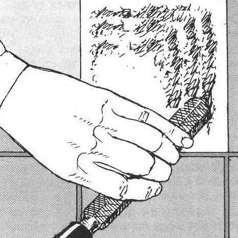 Рис. 8. Для замены плитки необходимо тщательно удалить старый слой раствора