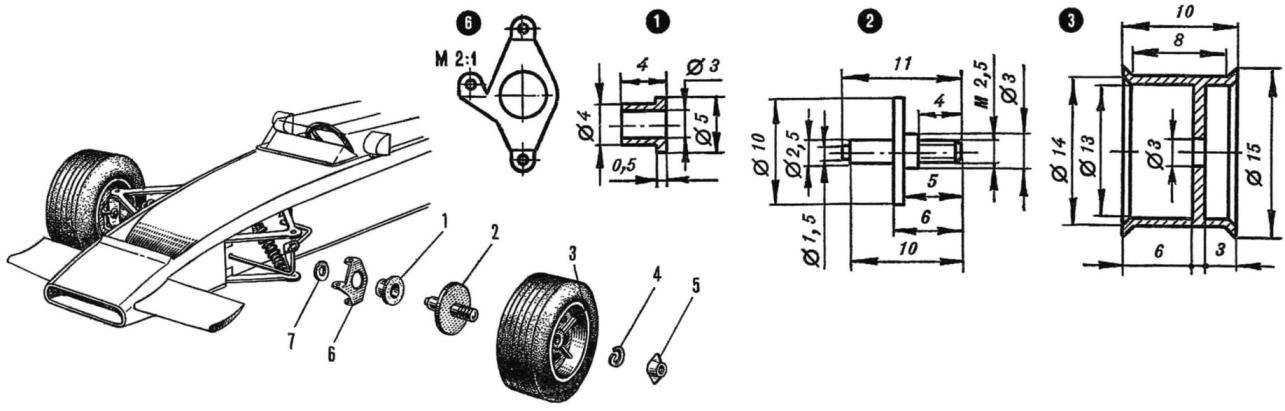 Рис. 3. Передняя часть кузова и конструкция передней подвески