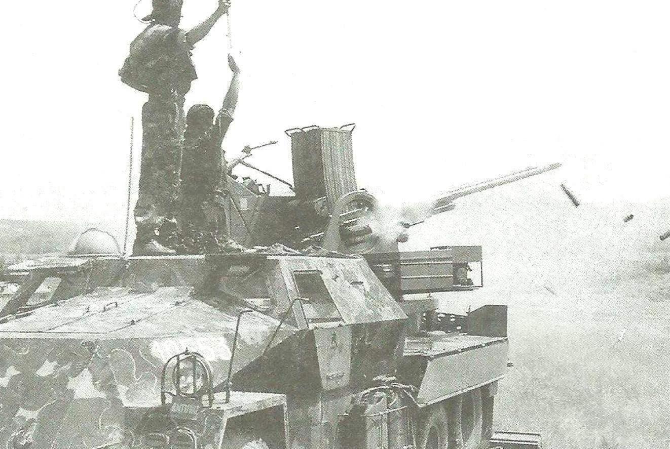 ЗСУ в боевых действиях. Огонь ведёт установка 3-й пехотной бригады сербской армии, 1992 г.