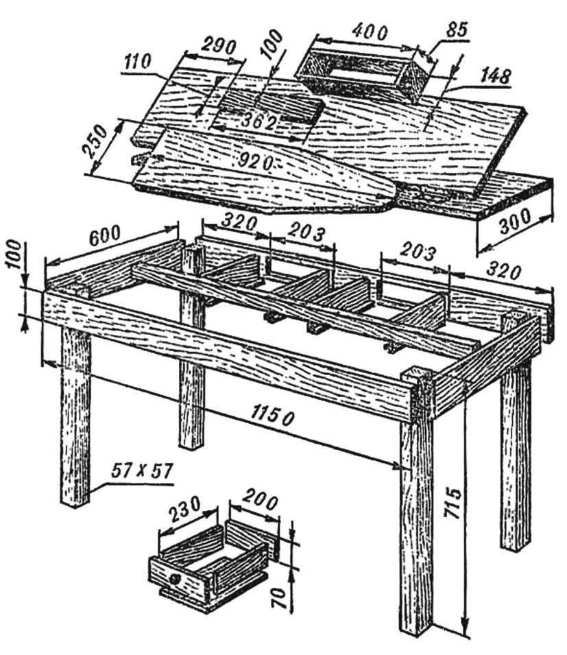Рис. 2. Еще один вариант гладильного стола.