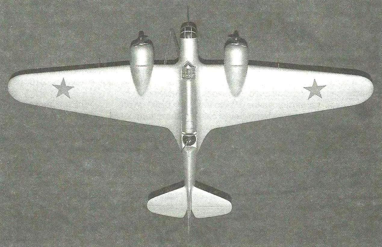 Модель АНТ-46 без динамореактивных пушек, вместо которых установлены дополнительные пулемёты