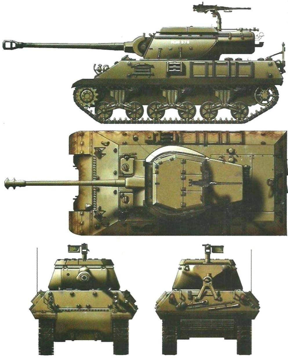 American tank destroyer M36B2
